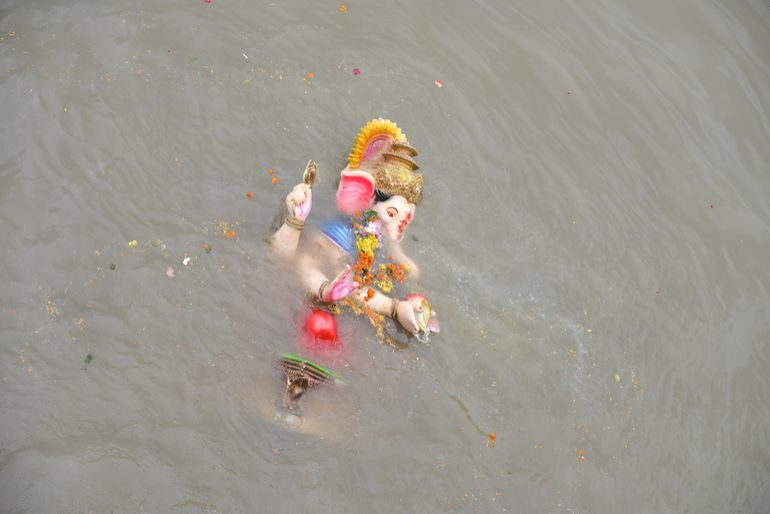 Immersion Of Ganesh Idols Pollute Sea Off Vishakhapatnam