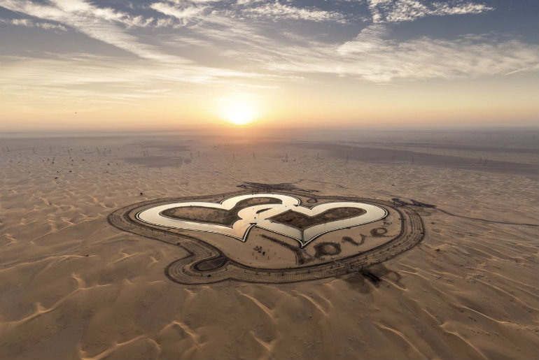 Crown Prince Of Dubai Reveals Two New Heart-Shaped Lakes