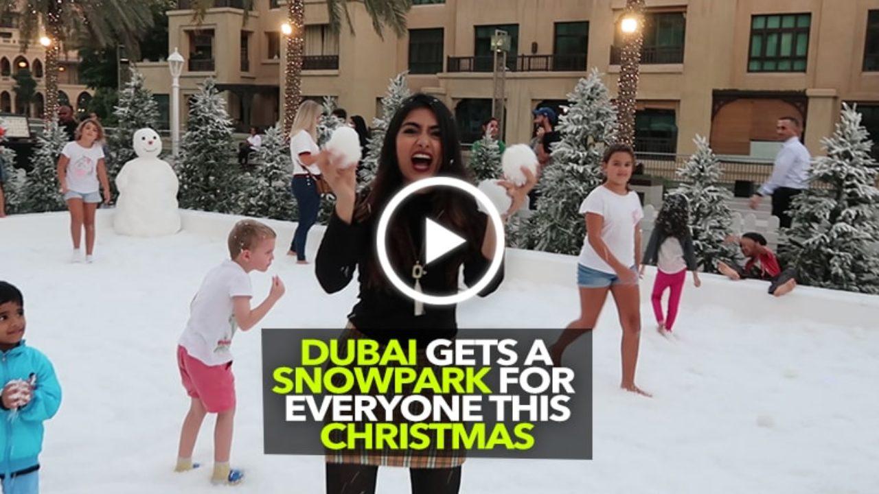 Snow Park Dubai Downtown Christmas 2021 Truckersuae Introduces Downtown Snowpark
