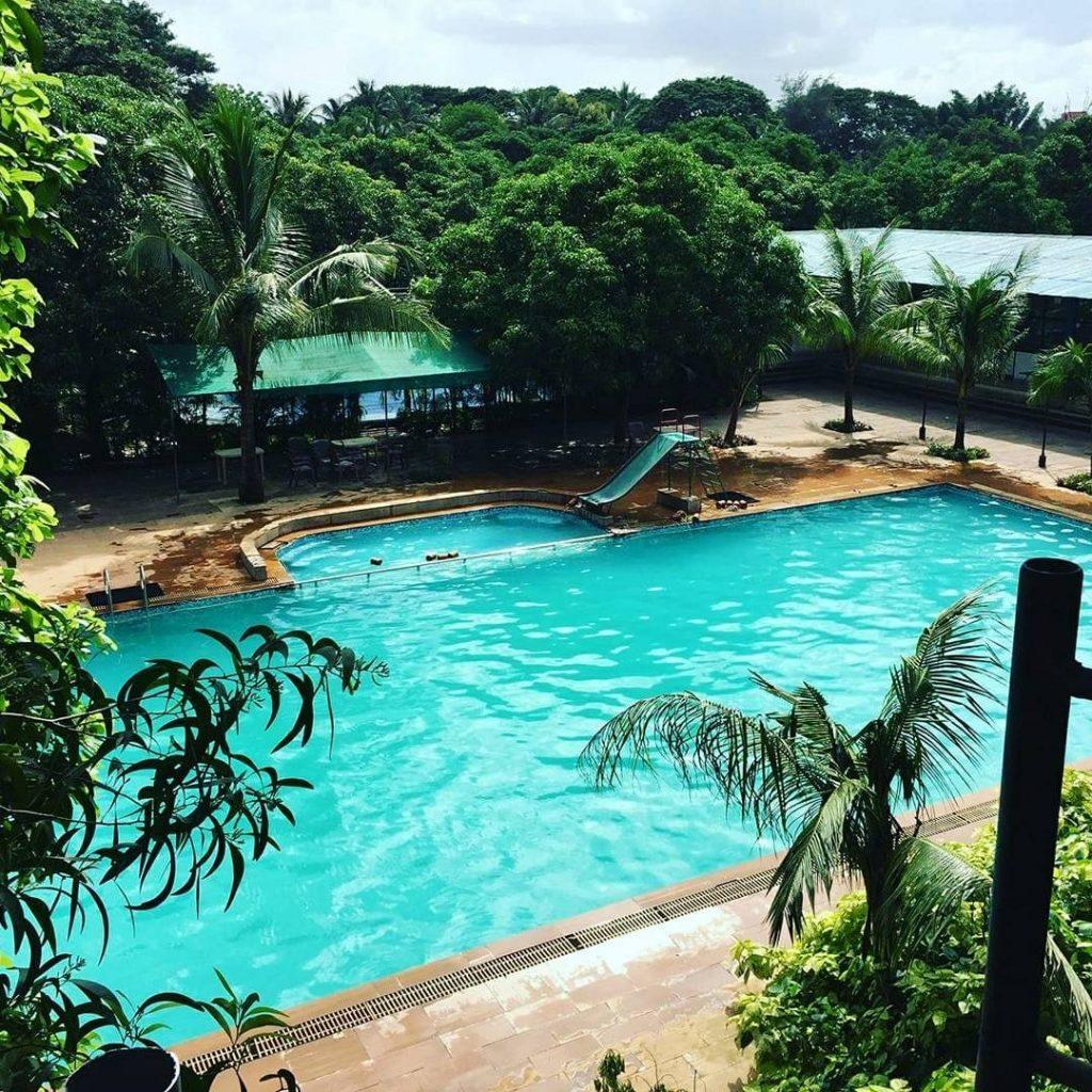 Swimming pool at Srushti Farms