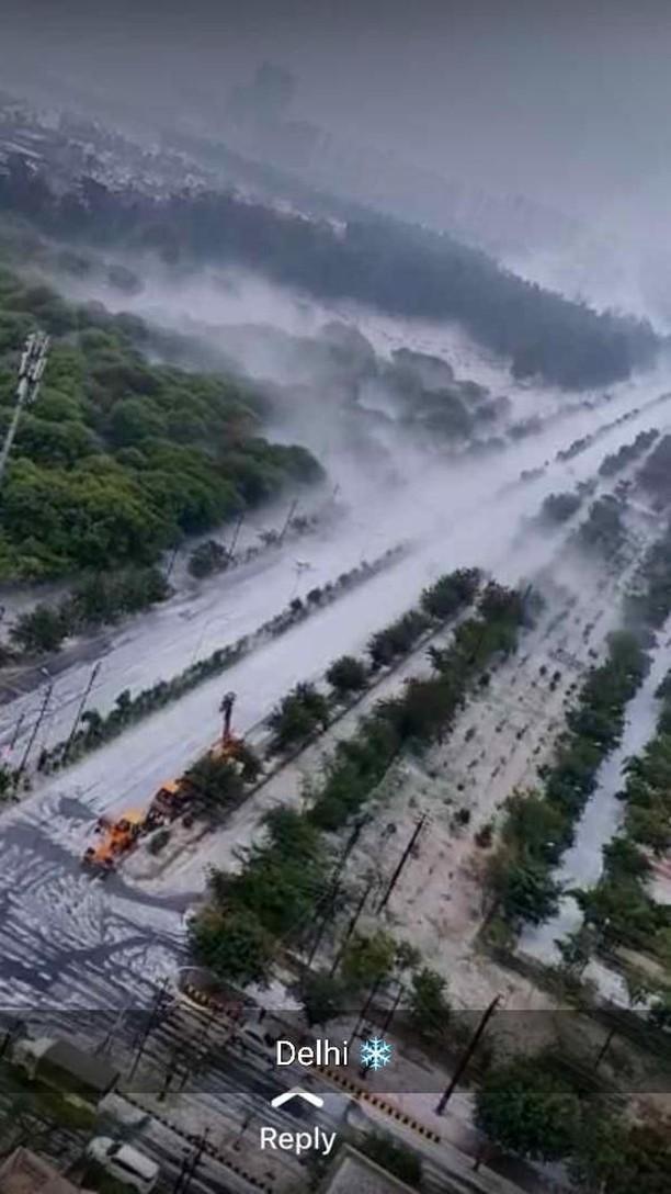 Delhi hailstorm