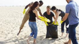 Beach cleaning - Goa