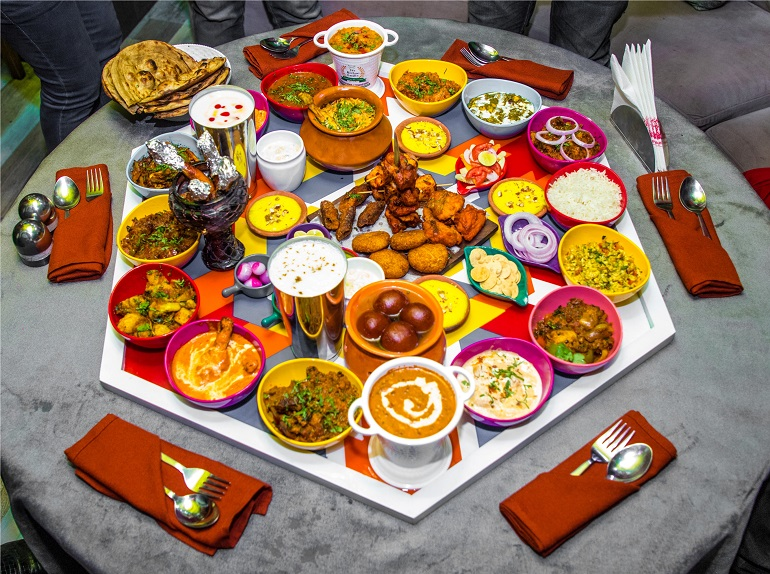 The Mellow Garden's Satrangi Thali With More Than 30 Items Is A Foodie's Dream