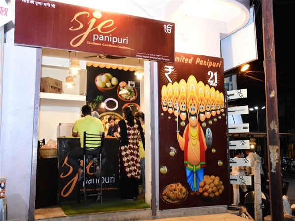 SJE Panipuri In Indore Gives Away Unlimited Pani Puri For