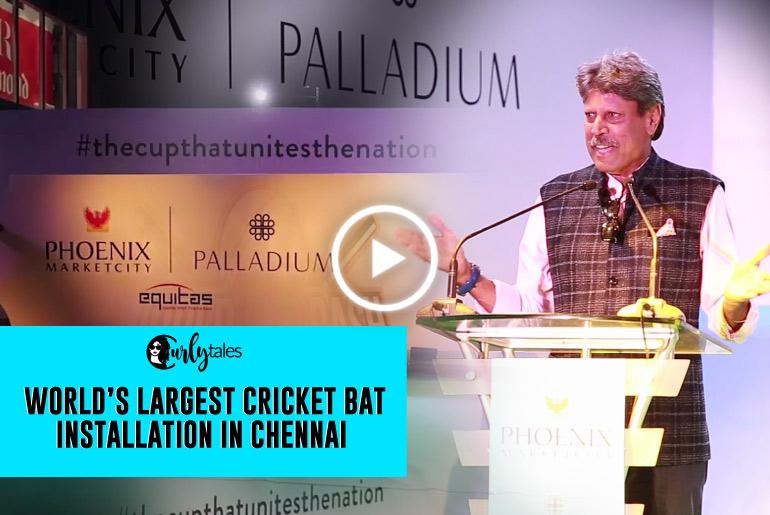 World's Largest Cricket Bat Installation At Phoenix Marketcity Chennai