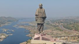 Statue Of Unity Flooded