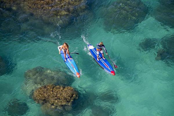 Surfboarding at Kite Beach