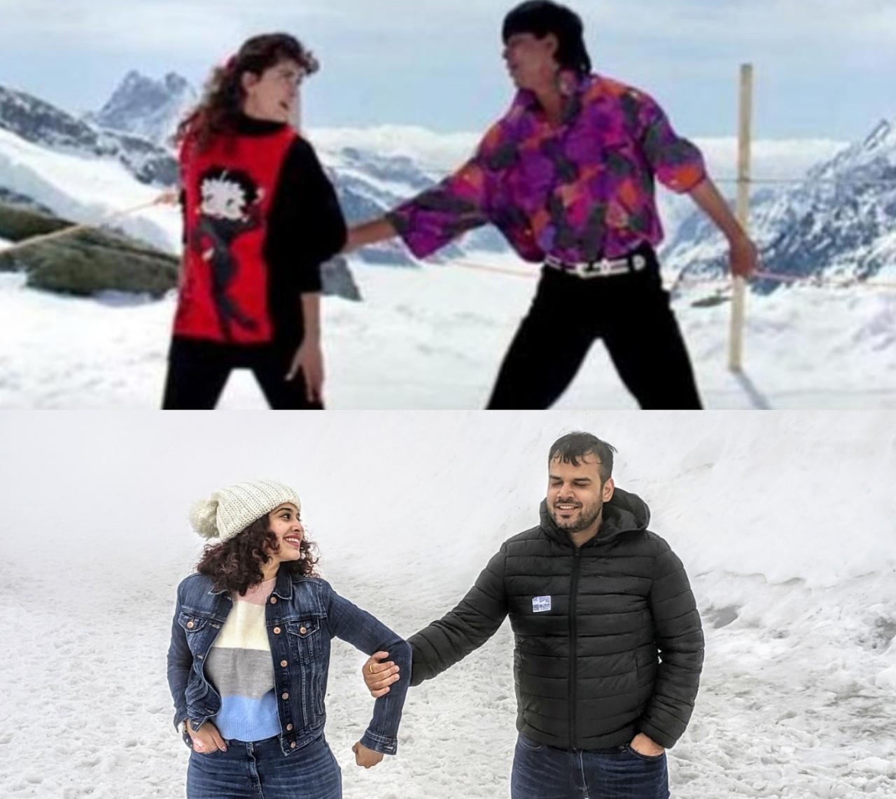 Samar & Kamiya posing as SRK & Juhi