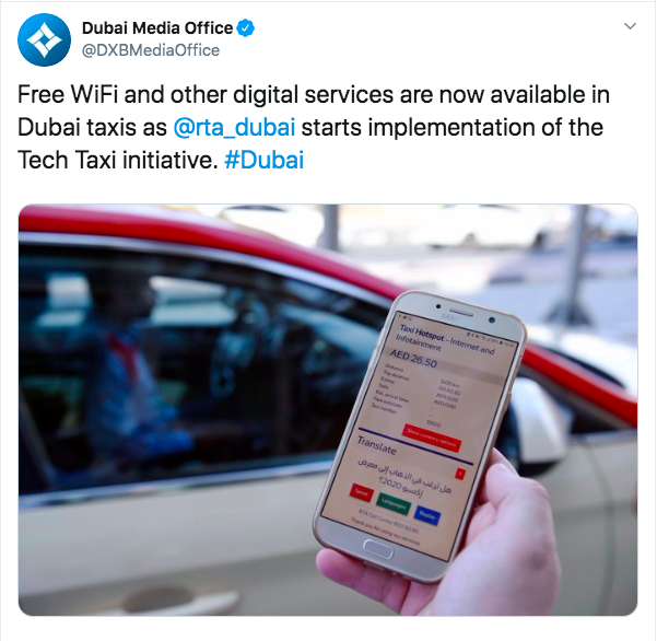 Dubai Taxis Will Soon Provide Free Wifi To Riders | Curly Tales