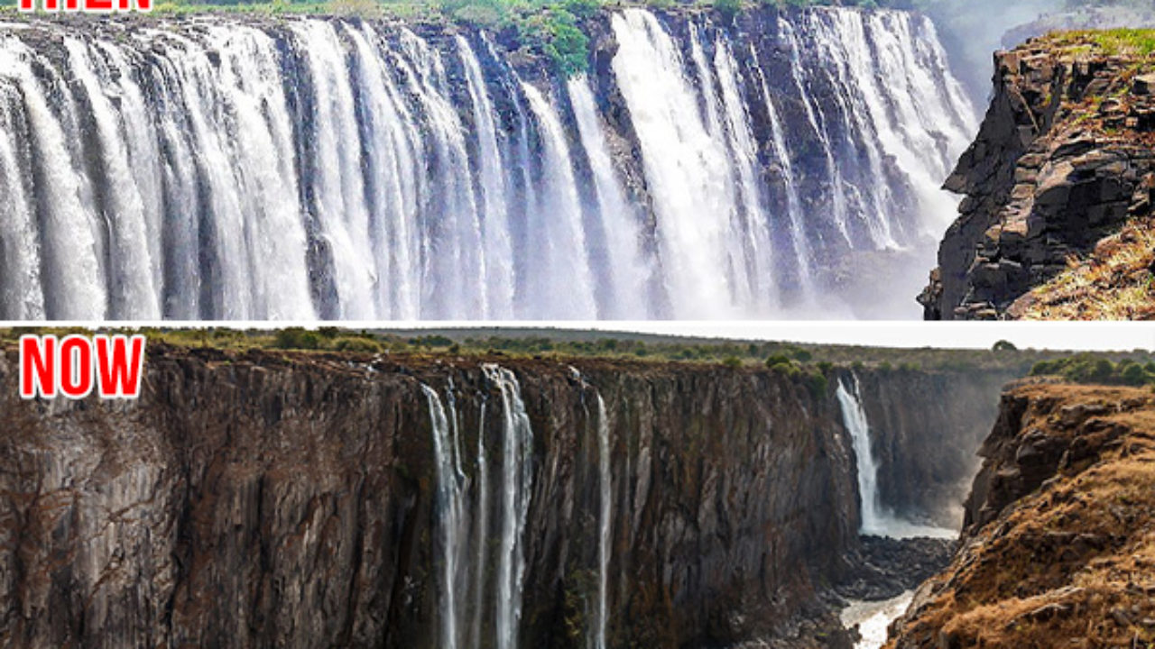 World S Largest Waterfall Victoria Falls Dries Up Due To