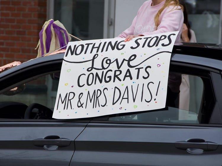 couple got married at home coronavirus