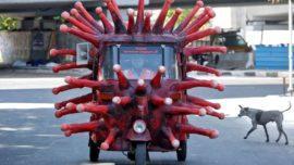 Coronavirus-Themed Auto Rickshaw Chennai