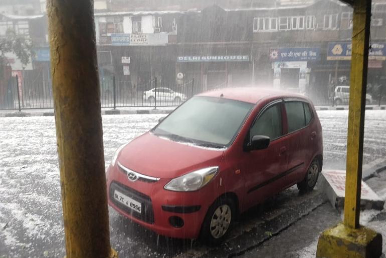 Hailstorm Delhi NCR Ghaziabad