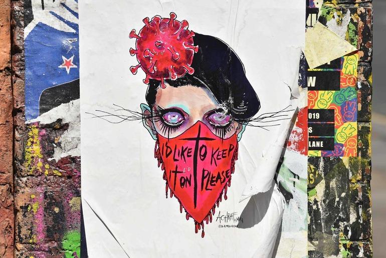 Graffiti on coronavirus