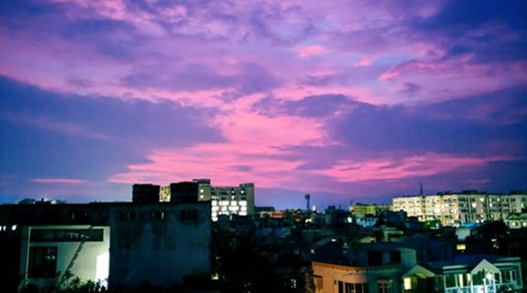 Sky Is pink In Bhubaneshwar Post Cyclone Amphan