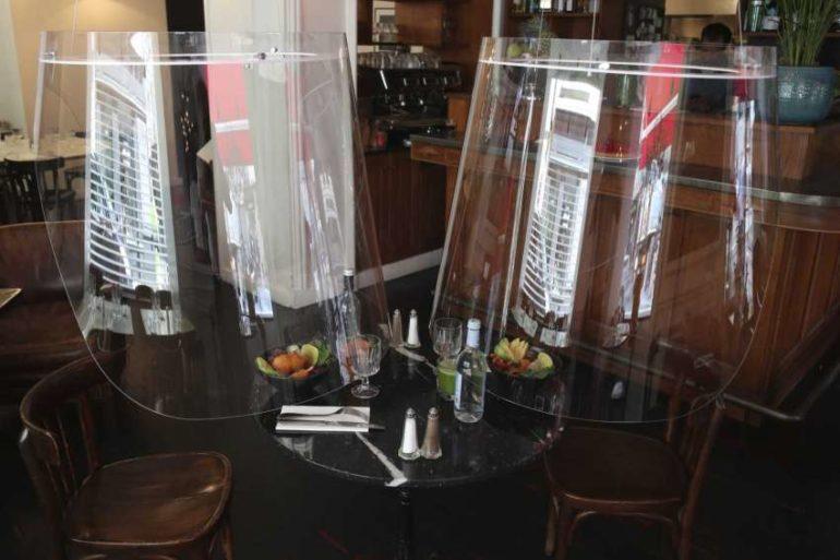 paris restaurant plastic shield