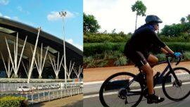 Bangalore airport cyclists
