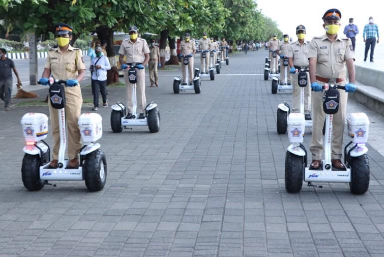 mumbai police segways