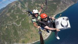 Turkish Musician Paragliding