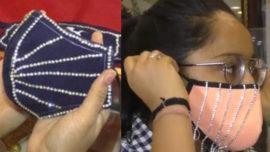 Diamond-Studded Masks
