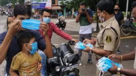 Chhattisgarh Police 14 Lakh Masks