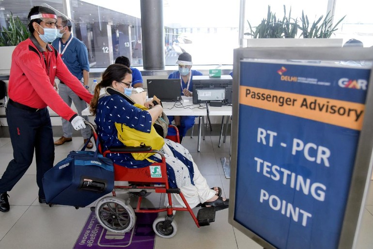 covid testing at delhi airport