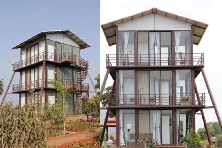 glass houses near mumbai