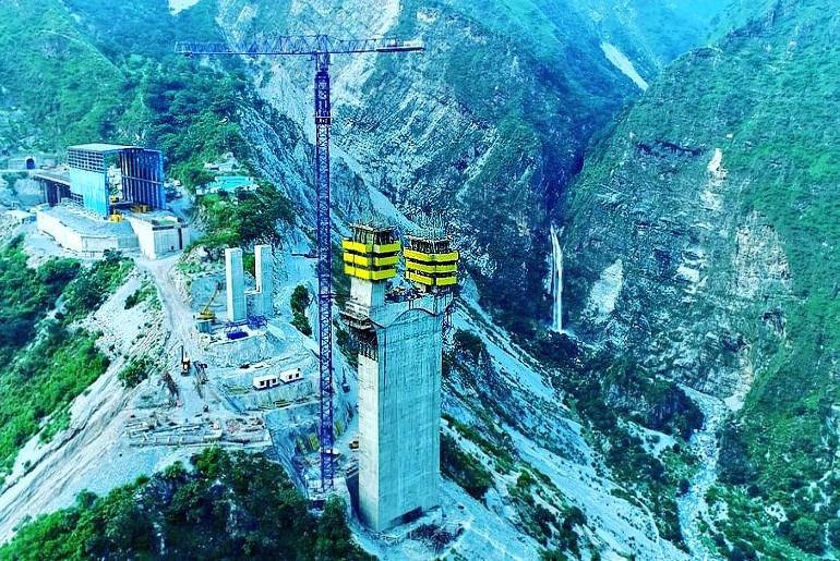 India's First Cable Stayed Rail Bridge Jammu & Kashmir