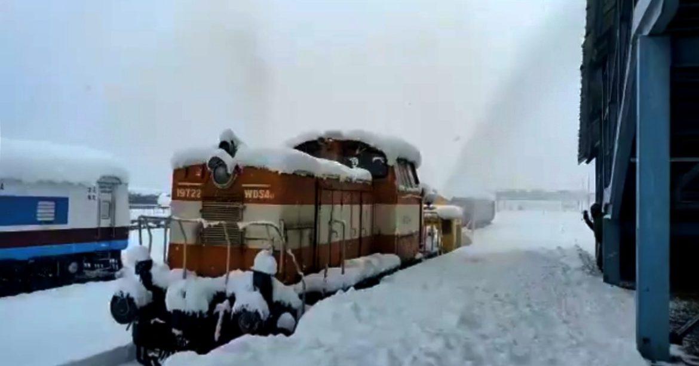 Srinagar Thick Snowfall