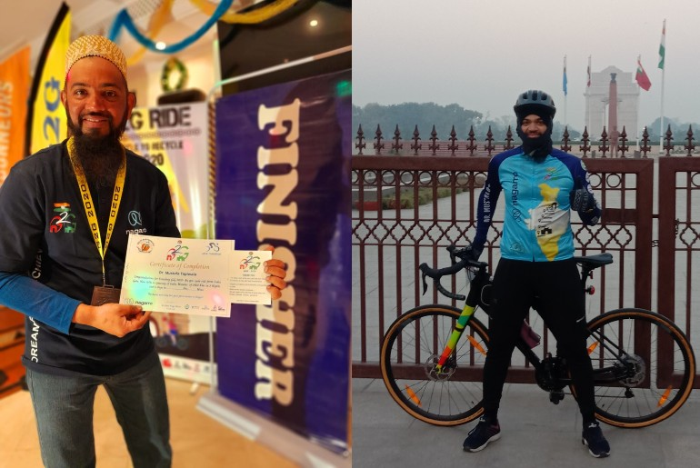 India First Physiotherapist Cycle India Gate Gateway Of India
