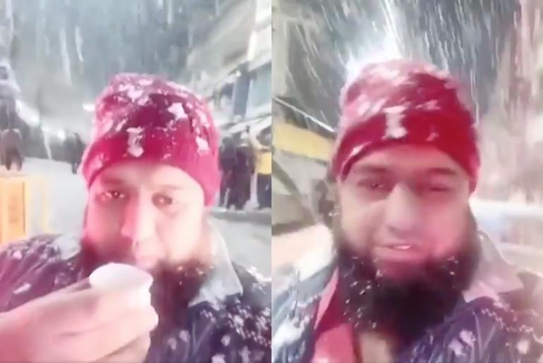 Reaction to snow