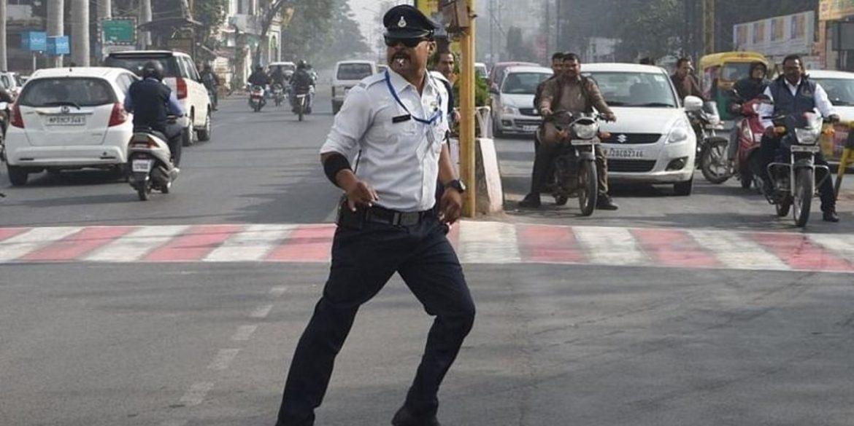 indore cop moonwalking