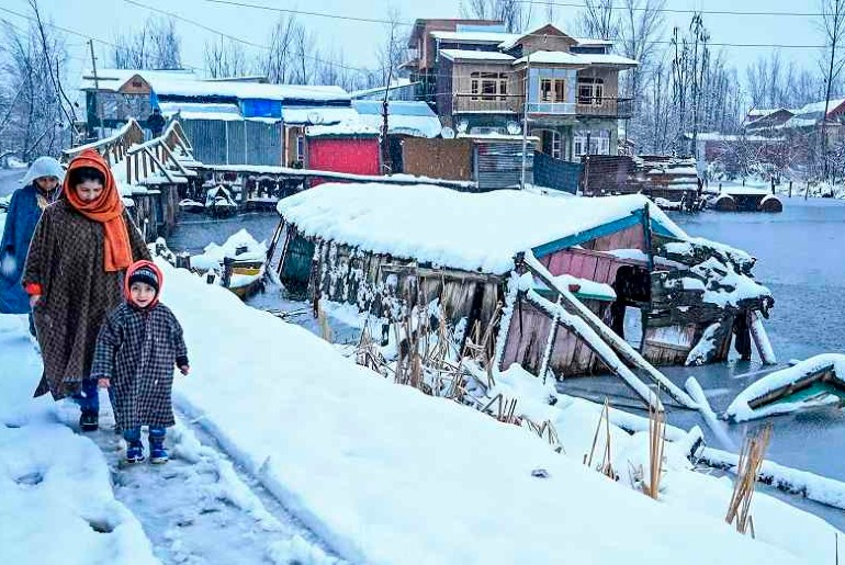 Srinagar coldest night