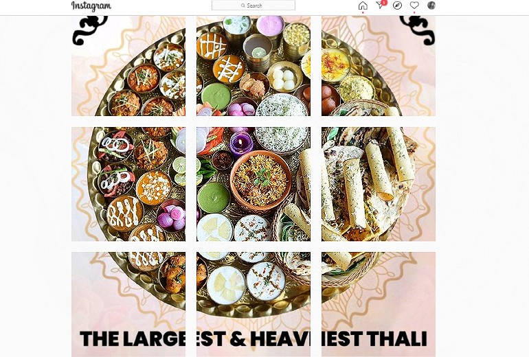 World's Largest And Heaviest Veg Thali