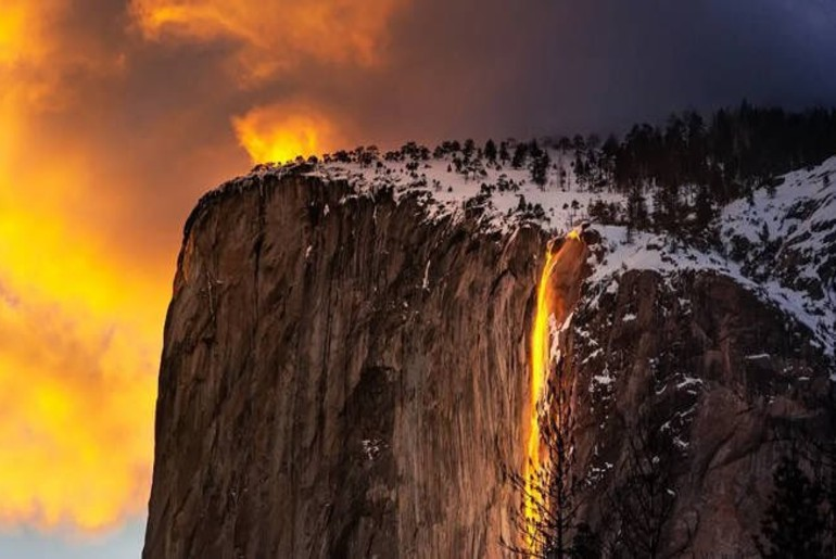Firefall Waterfall Yosemite