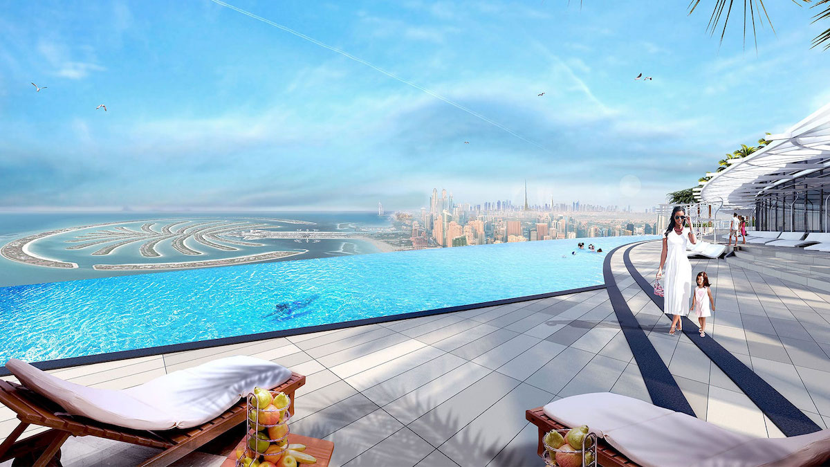 Dubai's Address Beach Resort Sets Guinness World Record For Highest Infinity  Pool In A Building | Curly Tales