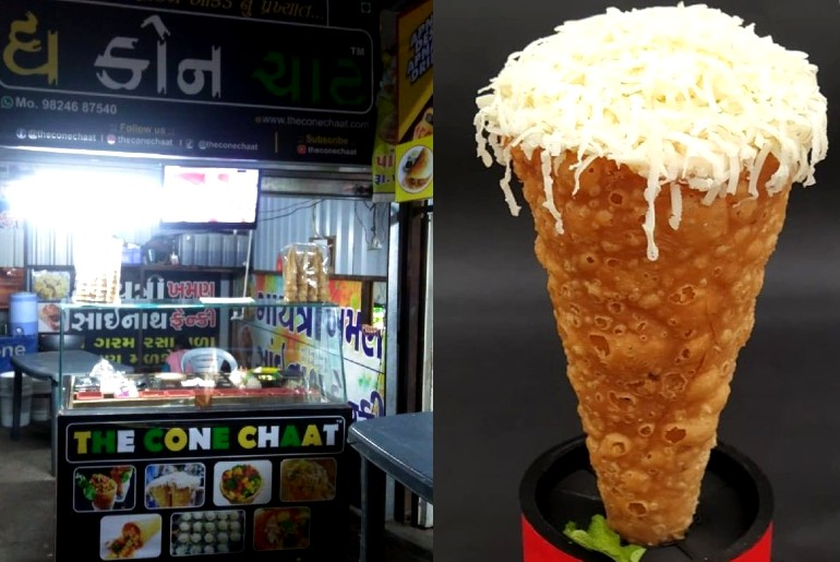 cheese cone chaat surat