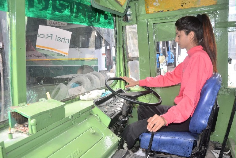 21-Year-Old Woman Bus Driver