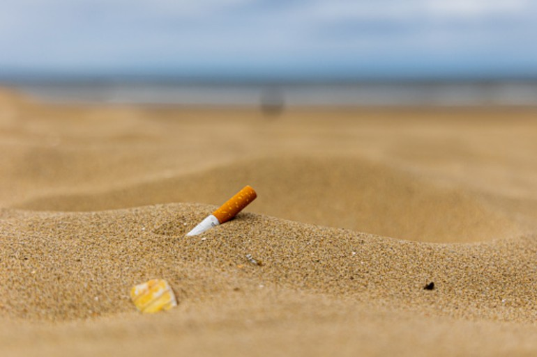 Robot Cleans Cigarette Butts On Beaches