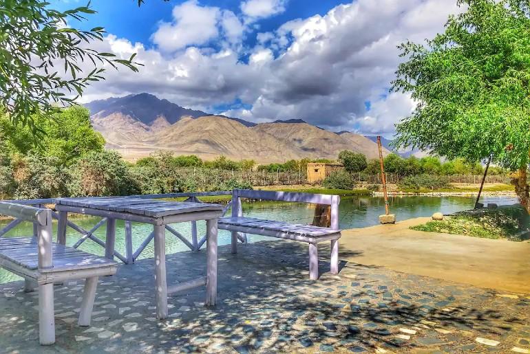 Ladakh riverside resort