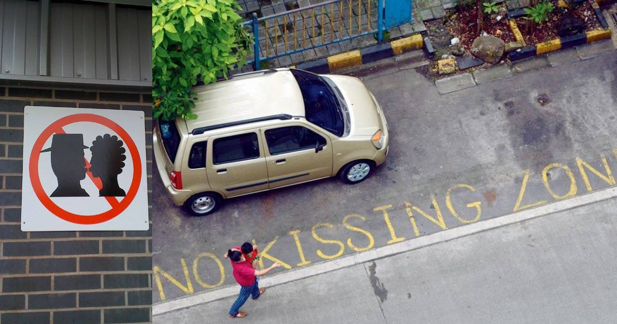 This Housing Society In Mumbai Put Up 'No Kissing' Boards To Discourage PDA