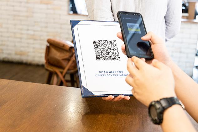 QR codes at restaurants