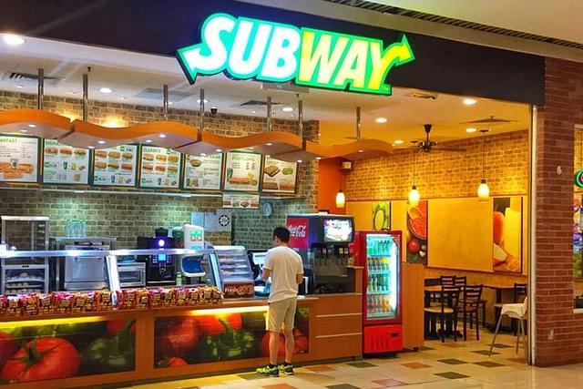 subway india reliance