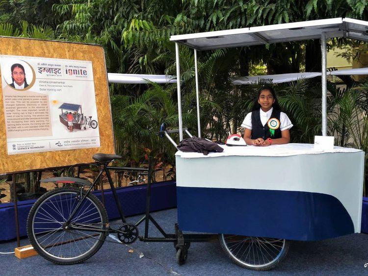 Vinisha solar ironing carts