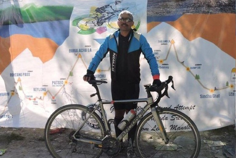 Indian Army Officer Fastest Solo Cycling From Leh To Manali